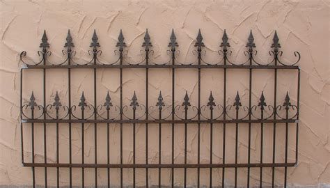 gartenzaun antik metall schmiedeeisen gartenzaun zaun metall roma z100 200 rost