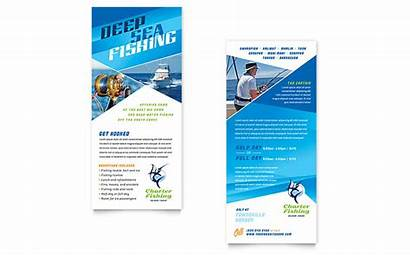 Rack Card Fishing Template Charter Guide Publisher