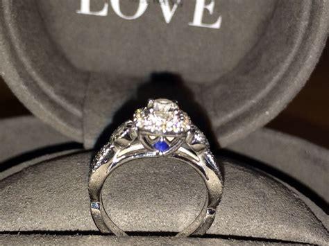 vera wang diamond and sapphire wedding ring stunning vera wang engagement ring 18ct white gold 70ct diamond and sapphire inset ring in