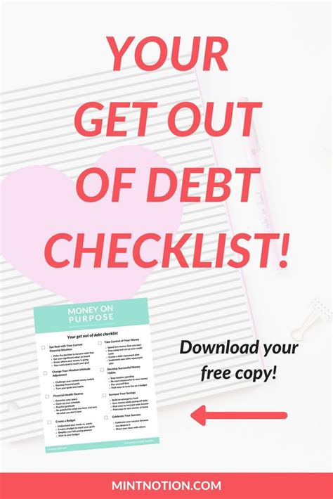 Search for get cash from your credit card now. Get out of debt checklist. Free printable. Save money. Pay off credit card debt this year ...