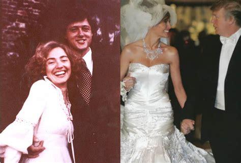 melania  hillary  wore  wedding dress