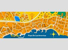 Playa de las Americas Street Map and Travel Guide