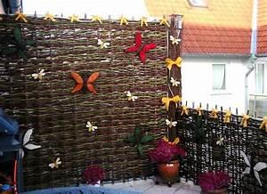 Sichtschutz Aus Weide : weidenflechtmatten sichtschutzmatten balkon ~ Lizthompson.info Haus und Dekorationen