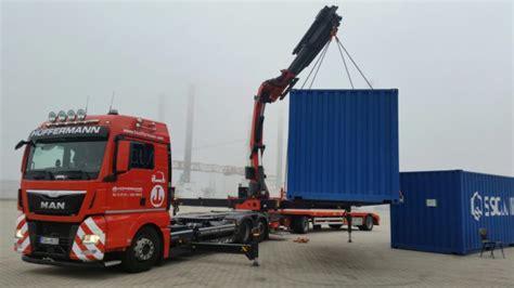 lkw mit kran mieten containertransport eemshaven nach wildeshausen mit lkw