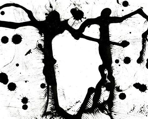 Abstract Black And White Ink Painting by Black And White Abstract Ink Painting By Artur Mloian