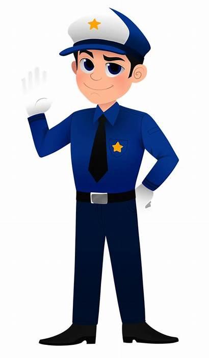 Clipart Policeman Police Officer Clip Cartoon Activities