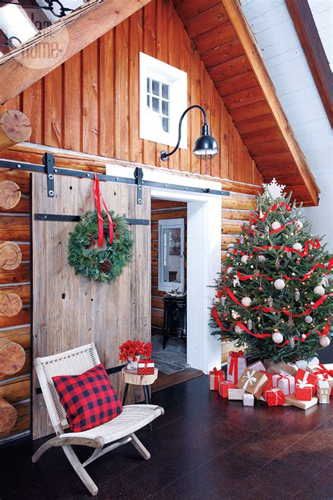 bungalow christmas house interior cozy cottage style at home
