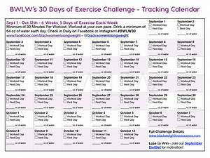 Weight Loss Calendar Plan 30 Day Exercise Challenge And Dietbet Black Weight Loss