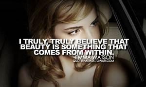 Emma watson, qu... Emma Watson Beauty Quotes