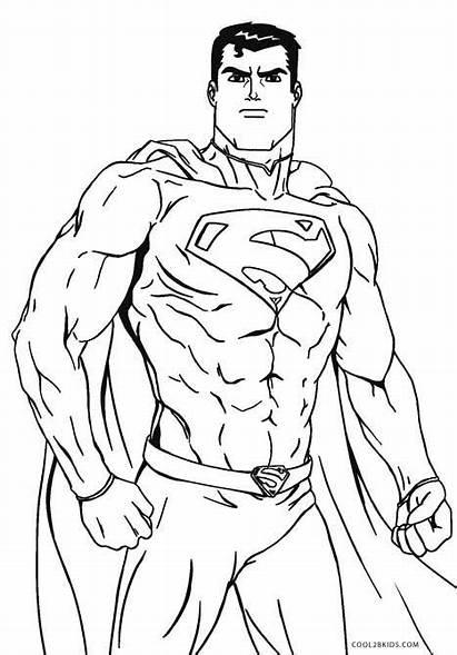 Superman Coloring Printable Colorear Sheet Batman Comic