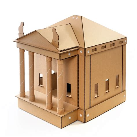 Temple Cardboard Cat House  Brings Kittens And Gods Together