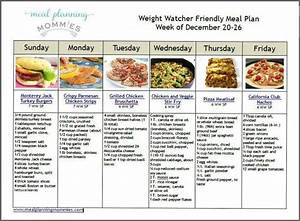 weight watcher friendly meal plan 1 with old smart points With weight watchers menu planner template
