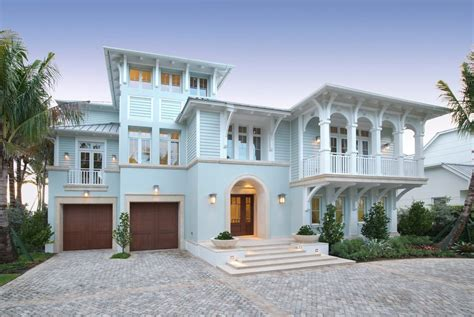house exterior beach style with corbels double front doors