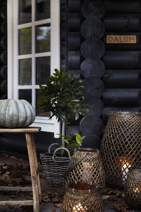 black stained log cabin  danmark