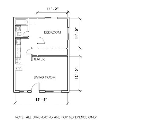 1 bedroom cabin plans small 1 bedroom cottage floor plans and elevation by