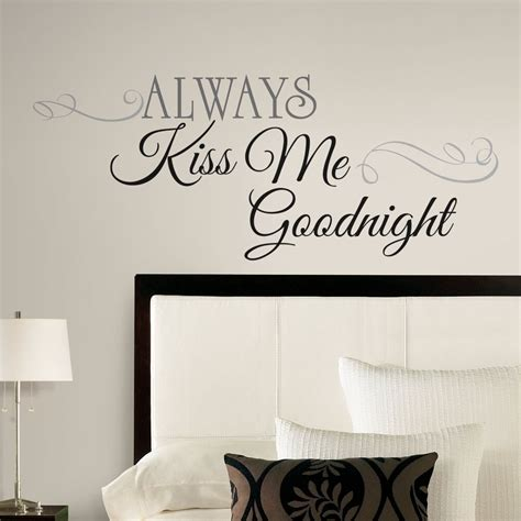 large  kiss  goodnight wall decals bedroom
