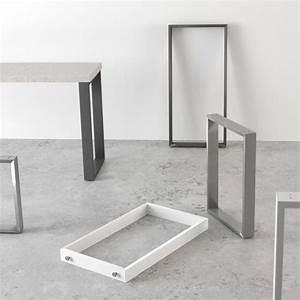 Pied De Table 90 Cm : pied de table traineau de cuisine hauteur 73 88 ou 108 cm fix 4 ~ Teatrodelosmanantiales.com Idées de Décoration