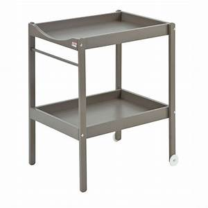 table a langer alice bois massif laquee taupe de combelle With table a langer bois massif
