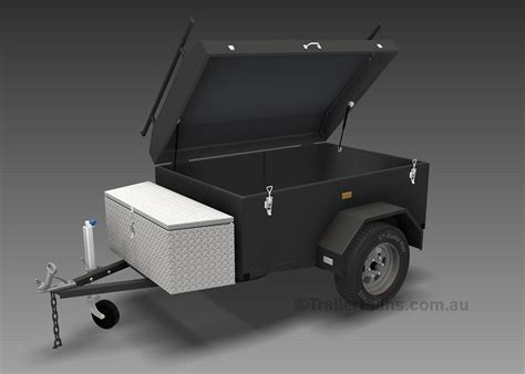 4m Enclosed Motorbike Trailer Plans