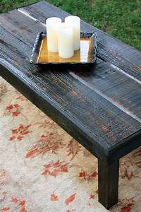rustic modern coffee table with plumbing pipe legs diy With rustic black wood coffee table