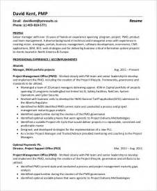 Program Management Resumes by Sle Project Manager Resume 8 Exles In Word Pdf