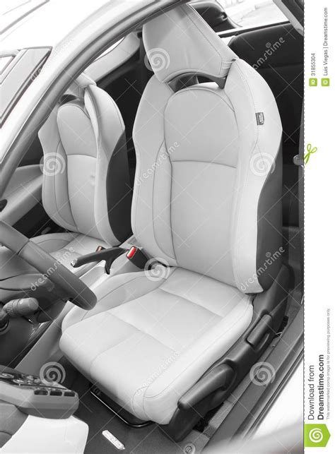 car seats for sports cars leather seats in luxury sportscar stock images image