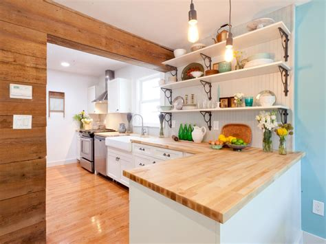 wooden cottage kitchen l shaped kitchen design pictures ideas tips from hgtv 1158