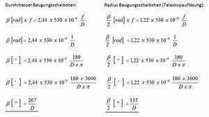 Auflösungsvermögen Berechnen : 2 das sichtbarmachen fl chiger objekte die austrittspupille und die sinnvollen vergr ereungen ~ Themetempest.com Abrechnung