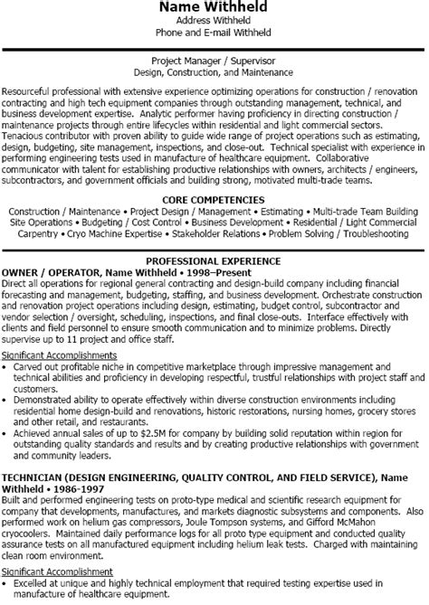 subcontractor resume resume cv cover letter