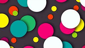Wallpaper Colorful Dots Multicolor HD Abstract 925