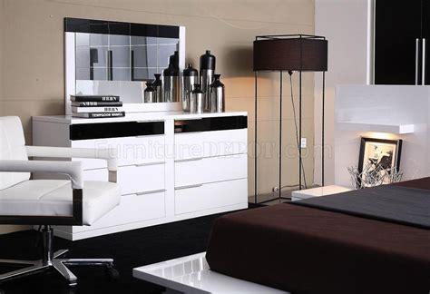 contemporary  piece bedroom set impera black white