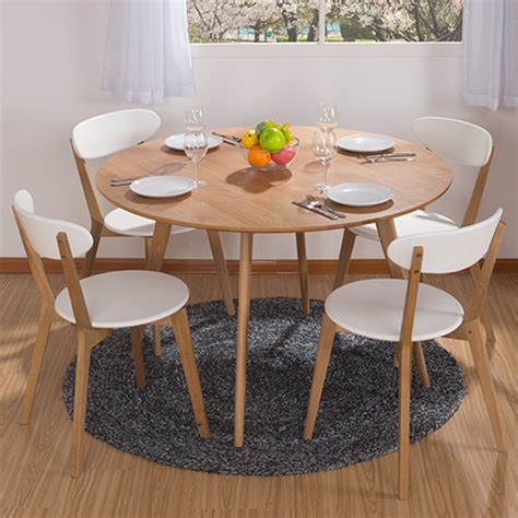 white wood round dining table round dining table combination ikea dining table and four