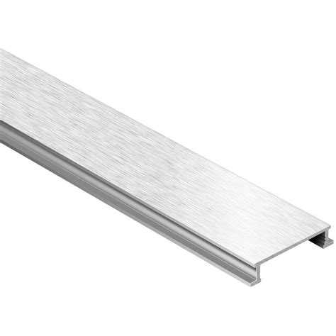 schluter designline brushed chrome anodized aluminum 1 4