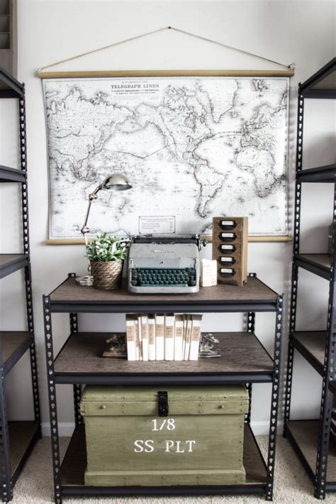 remodelaholic   style industrial shelves   cheap