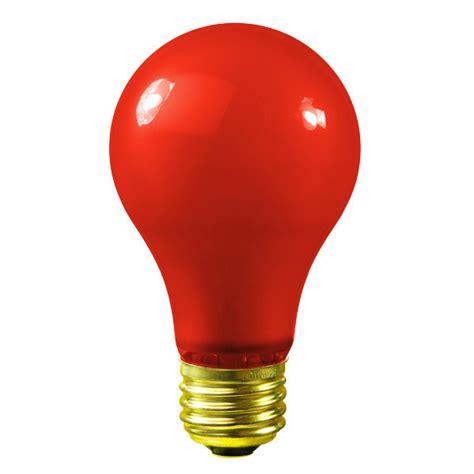 Satco S4984  60 Watt  Red Party Light Bulb