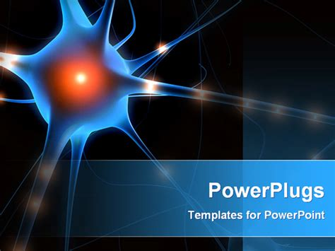 powerpoint template  nerve cell  blackish background