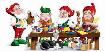 Elves Santa Workshop Christmas Elf Working Santas