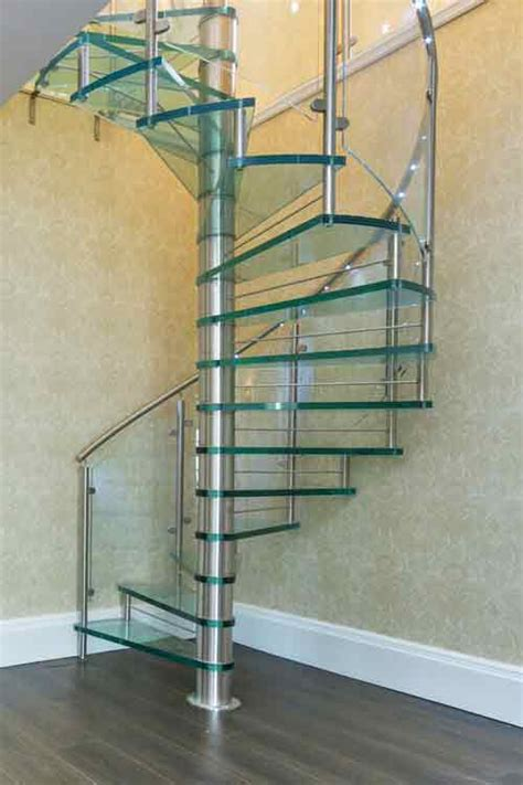 clear acrylic panels spiral staircases in bespoke kit form view
