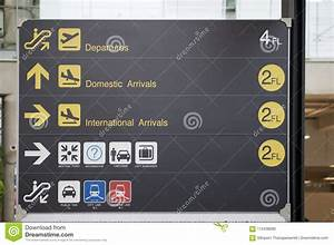 Departure  Arrivals And Transport Guide Board Sign At