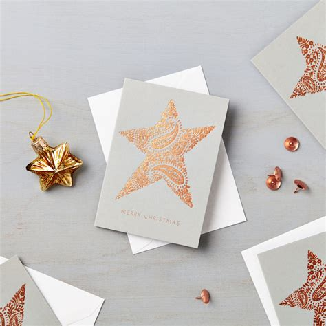 pack   luxury copper foil mini star charity christmas