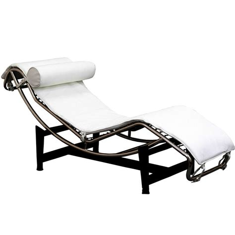 Le Corbusierstyle Chaise  Black Leather Chaise Lounge
