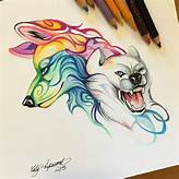 wolf art drawing on Instagram