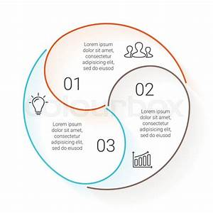 Circle Line Stroke Infographic  Template For Cycle Diagram