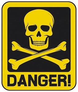 """Danger skull and crossbones"" by phatmikey Redbubble"