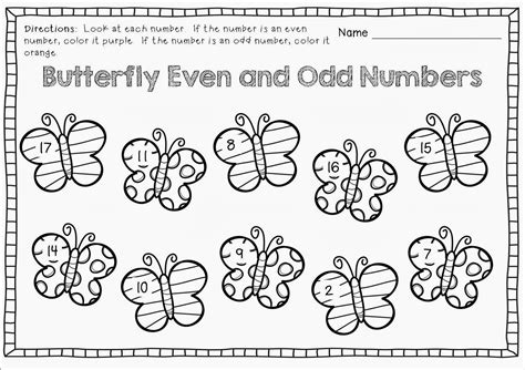 even and numbers worksheets for grade 2 loving printable