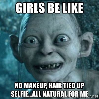 No Makeup Selfie Meme - no makeup selfie meme mugeek vidalondon