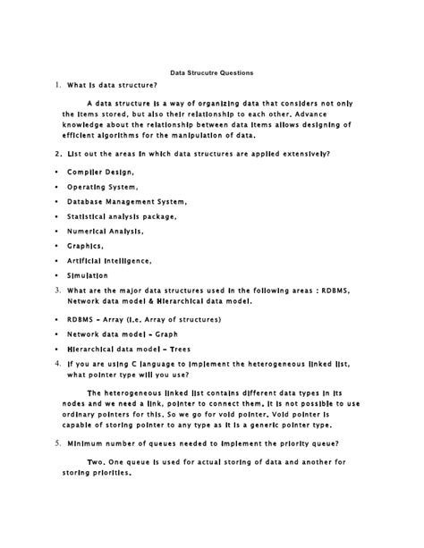 Data structures question paper anna university