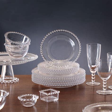glass bella perle dinnerware crockery collection dibor notonthehighstreet beaded dinner luxury service