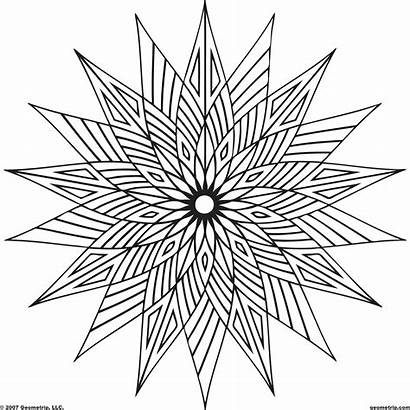 Cool Geometric Coloring Pages Shapes Designs Shape