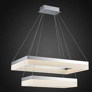 whole led pendant light modern rectangle pendant With lamp to light whole room